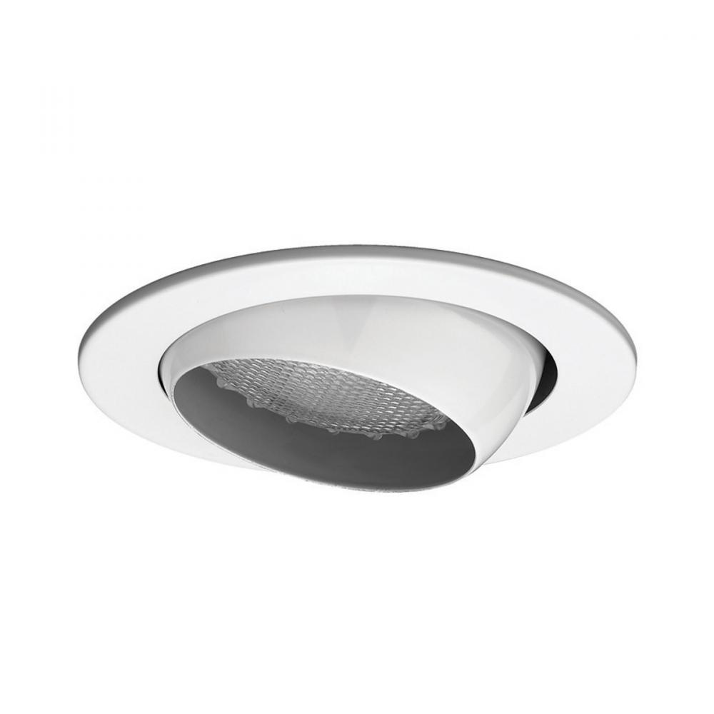 Recessed Directional Lighting Fixtures : One light white directional recessed r wt